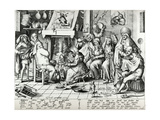 Shrove Tuesday  Engraved by Pieter Van Der Heyden 1567