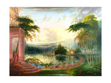 A Romantic Landscape with the Arrival of the Queen of Sheba  C1830