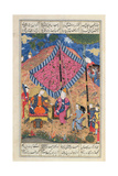 Ms D-184 Fol203A the Tent of the Persian Army  Illustration from the 'shahnama' (Book of Kings) …