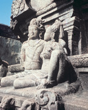 Carved Figures of Shiva and Parvati  C800 Ad