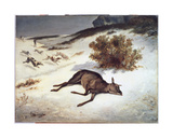Hind Forced Down in the Snow  1866