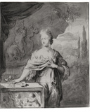 Preparatory Drawing for Portrait of Dina Bye  1705