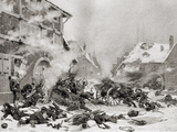 Fire Attack on a Barricaded House  Photogravure by Goupil and Company