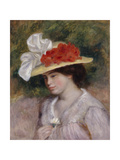 Woman in a Flowered Hat  1889