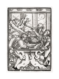 Death and the Devil Come for the Card Player  Engraved by Georg Scharffenberg  from 'Der Todten…