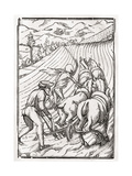 Death Comes for the Farmer or Husbandman  Engraved by Georg Scharffenberg  from 'Der Todten…