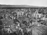 View of the Christian Area  City of Damascus after the Fire of 1860  1862