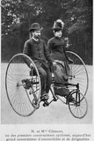 Adolphe Clement and His Wife on a Tricycle