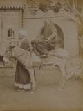 Woman on a Donkey  Cairo  1893
