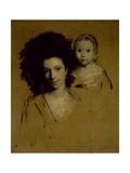 Studies of Georgiana  Duchess of Devonshire and Her Daughter Lady Georgiana Cavendish