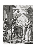 Don Quixote and Sancho Panza at an Inn  Published 1798