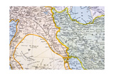 Partial Map of the Middle East in the 1890s  from 'The Citizen's Atlas of the World'  Published…