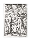 Adam and Eve in the Garden of Eden  from 'Der Todten Tanz'  Published Basel  1843