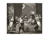 Sancho at the Feast Starved by His Physician  from 'The Works of Hogarth'  Published 1833