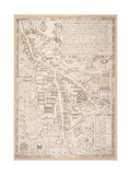 Map of Cambridge  from Caius 'Historia Cantabrigensis Academia'  1574