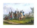 Striking the Post  1853