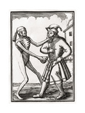 Death Comes to the Jew  from 'Der Todten Tanz'  Published Basel  1843