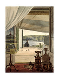 View from a Room with a Balcony over the Gulf of Naples  1826