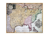 Map of Louisiana and Mississippi  C1720