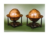 Pair of 12-Inch Celestial and Territorial Globes