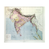 Map of India  Published under the Direction of Colonel HR Thuillier  RE  Surveyor General of…