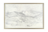 Langdale Pikes from Elterwater  4th September 1806