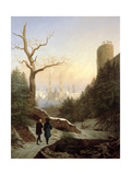 Winter Landscape with Gothic Church  1821