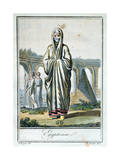 Egyptian Woman Wearing the Chador  Illustration from 'Encyclopedie Des Voyages'  Published in…