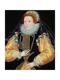 Portrait of Queen Elizabeth I - the Drewe Portrait  Late 1580s