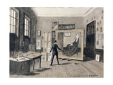 Whistler Painting in His Studio