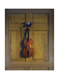 Violin and Bow Hanging on a Door