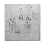 Figure Studies for the Lunettes of the Sistene Chapel Ceiling  C1511