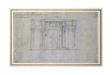 Study of the Upper Level of the Medici Tomb  C1520