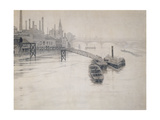 View of Thames  City Stream Company Jetty  Battersea Power Station