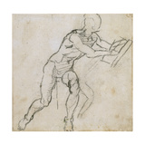 Study of a Seated Male Nude  C1511