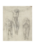 Study of a Crucified Christ and Two Figures  C1560