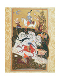 Hunting Scene from 'The Book of Love'  Safavid Dynasty