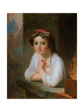 Portrait of a Peasant Girl  1857
