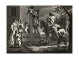Hudibras Leading Crowdero in Triumph  from 'Hudibras' by Samuel Butler (1612-80) Engraved by J…