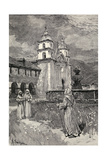 Fountain and Mission  Santa Barbara  California  from 'The Century Illustrated Monthly Magazine' …