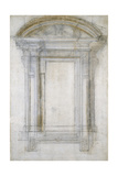 Study of a Window with a Semi-Circular Gable  C1546