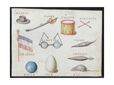 Illustrations from 'A French Alphabet Book of 1814'  Pub by Charles Plante Fine Arts  1814