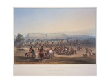 Encampment of the Piekann Indians  Engraved by Beyer and Hurliman  Published in 1839