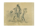 Blackfeet Warrior on Horseback  C1833-43