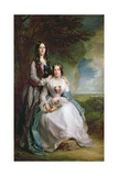 Lady Adeliza Manners and Lady Mary Foley  1848