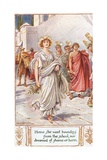 Home She Went  Bounding from School Nor Dreamed of Shame or Harm  Illustration from 'The Lays of…
