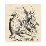 Alice with the Gryphon and the Mock Turtle  from 'Alice's Adventures in Wonderland' by Lewis…