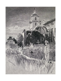 Graveyard and Mission  San Luis Rey De Francia  California  from 'The Century Illustrated Monthly…