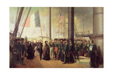 Queen Victoria I  Received Aboard the Steamer 'Le Gomer' by the Rear Admiral Lasusse  15th…