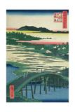 Sugatami Bridge  Omokage Bridge and Jariba at Takata  from the Series 'One Hundred Famous Views…